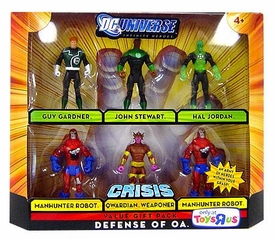 DC Universe Infinite Heroes Crisis Exclusive Action Figure 6-Pack Defense of OA [Guy Gardner, John Stewart, Hal Jordan, Qwardian Weaponer & 2x Manhunter Robot]