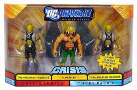DC Universe Infinite Heroes Crisis Action Figure 3-Pack Hawkman & 2 Thangarian Warriors