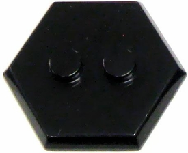 Catspaw Customs Black 2-Stud MiniFig Hex Stand