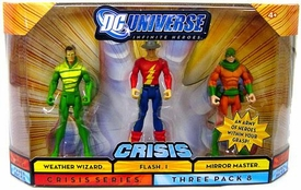 DC Universe Infinite Heroes Crisis Action Figure 3-Pack Weather Wizard, Flash I & Mirror Master