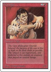 Magic the Gathering Unlimited Edition Single Card Common Gray Ogre