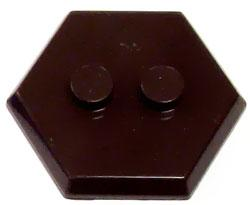 Catspaw Customs Dark Brown 2-Stud MiniFig Hex Stand