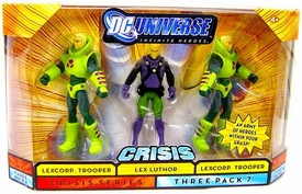 DC Universe Infinite Heroes Crisis Action Figure 3-Pack Lex Luthor & 2 Lexcorp Troopers