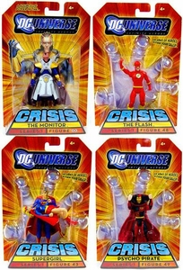 DC Universe Infinite Heroes Crisis Exclusive Crisis on Infinite Earths Set of 4 Action Figures [Psycho Pirate, The Flash, Supergirl & The Monitor]