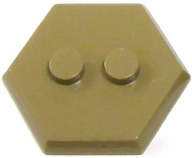 Catspaw Customs Dark Tan 2-Stud MiniFig Hex Stand