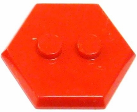 Catspaw Customs Red 2-Stud MiniFig Hex Stand