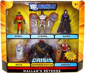 DC Universe Infinite Heroes Crisis Exclusive Action Figure 6-Pack Mallah's Revenge [Robin, Cyborg, Raven, Brain, Arsenal & Monsieur Mallah]