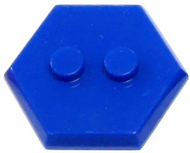 Catspaw Customs Blue 2-Stud MiniFig Hex Stand