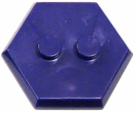 Catspaw Customs Purple 2-Stud MiniFig Hex Stand