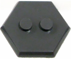 Catspaw Customs Dark Gray 2-Stud MiniFig Hex Stand