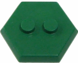 Catspaw Customs Green 2-Stud MiniFig Hex Stand