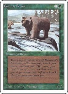Magic the Gathering Unlimited Edition Single Card Common Grizzly Bears Slightly Played Condition