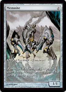 Magic the Gathering Other Promo Card Memnite [Scars of Mirrodin Game  Day]