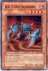 YuGiOh Ancient Sanctuary Single Card Common AST-019  KA-2 Des Scissors