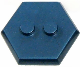 Catspaw Customs Cobalt 2-Stud MiniFig Hex Stand