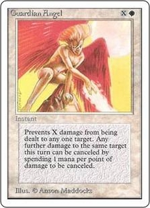 Magic the Gathering Unlimited Edition Single Card Common Guardian Angel