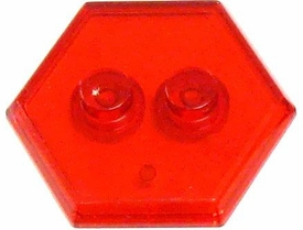 Catspaw Customs Trans Red 2-Stud MiniFig Hex Stand