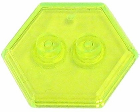 Catspaw Customs Trans Green 2-Stud MiniFig Hex Stand BLOWOUT SALE!