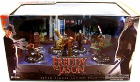 Wizkids Games Horrorclix Action Figure 7-Pack Collector's Set Freddy Vs. Jason