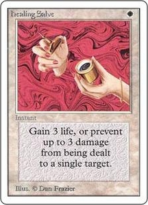 Magic the Gathering Unlimited Edition Single Card Common Healing Salve
