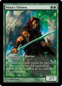 Magic the Gathering Other Promo Card Nissa's Chosen [Zendikar Game Day]