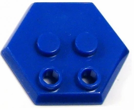 Catspaw Customs Blue 4-Stud MiniFig Hex Stand