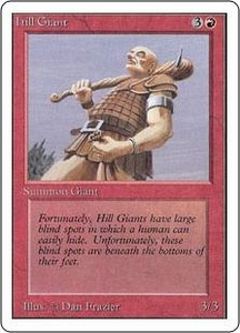 Magic the Gathering Unlimited Edition Single Card Common Hill Giant