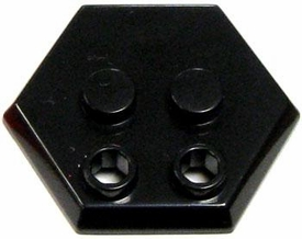 Catspaw Customs Black 4-Stud MiniFig Hex Stand
