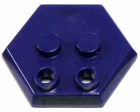 Catspaw Customs Purple 4-Stud MiniFig Hex Stand