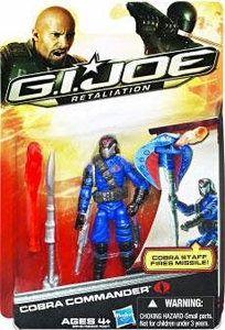 GI Joe Retaliation Movie 3.75 Inch Action Figure Cobra Commander {Blue Uniform} [Cobra Staff Fires Missiles!]