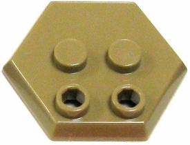 Catspaw Customs Dark Tan 4-Stud MiniFig Hex Stand BLOWOUT SALE!