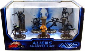 Wizkids Games AVP Alien Vs. Predator Horrorclix 7 Figure Collector's Set Aliens