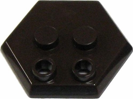 Catspaw Customs Dark Brown 4-Stud MiniFig Hex Stand