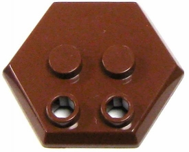 Catspaw Customs Brown 4-Stud MiniFig Hex Stand BLOWOUT SALE!