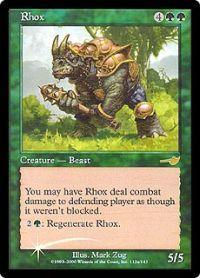 Magic the Gathering Other Promo Card Rhox [Alternate Art Foil]