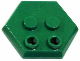 Catspaw Customs Green 4-Stud MiniFig Hex Stand