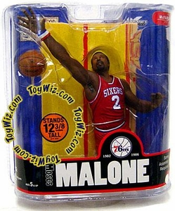 McFarlane Toys NBA Sports Picks Legends Series 3 Action Figure Moses Malone (Philadelphia 76ers) Red Jersey