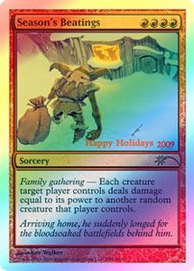 Magic the Gathering Other Promo Card Season's Beatings [2009 Holiday Foil]