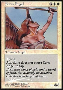 Magic the Gathering Other Promo Card Serra Angel [Foil Beta Picture]