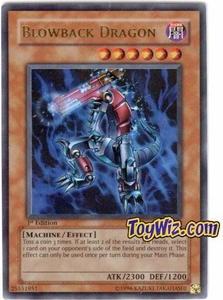 YuGiOh Ancient Sanctuary Single Card Ultra Rare AST-022 Blowback Dragon