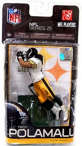 McFarlane Toys NFL Sports Picks Series 25 Action Figure Troy Polamalu (Pittsburgh Steelers) White Jersey
