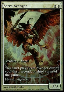 Magic the Gathering Other Promo Card Serra Avenger [Extended Art Foil]