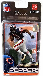 McFarlane Toys NFL Sports Picks Series 25 Action Figure Julius Peppers (Chicago Bears) Blue Jersey