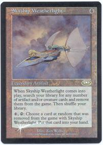 Magic the Gathering Other Promo Card Skyship Weatherlight [Alternate Art Foil]