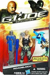 GI Joe Retaliation Movie 3.75 Inch Action Figure Roadblock {The Rock!} [Battle Kata Missile Blasting!]