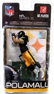 McFarlane Toys NFL Sports Picks Series 25 Action Figure Troy Polamalu (Pittsburgh Steelers) Black Jersey Variant