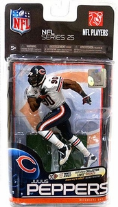 McFarlane Toys NFL Sports Picks Series 25 Action Figure Julius Peppers (Chicago Bears) White Jersey Bronze Collector Level Chase Only 1,000 Made!