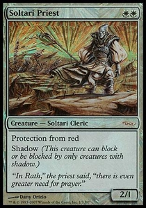 Magic the Gathering Other Promo Card Soltari Priest [MSS Foil]