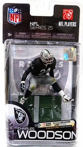 McFarlane Toys NFL Sports Picks Series 25 Action Figure Charles Woodson (Oakland Raiders) Black Jersey Silver Collector Level Chase Only 1,000 Made!