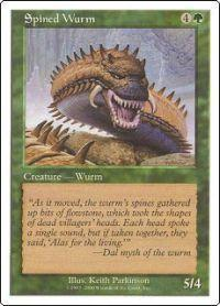Magic the Gathering Other Promo Card Spined Wurm  [Book Promo]